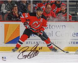 "Bryce Salvador New Jersey Devils Autographed Stopping with Puck 8"" x 10"" Photograph"