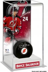 Bryce Salvador New Jersey Devils Deluxe Tall Hockey Puck Case
