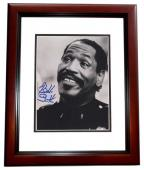 Bubba Smith Signed Picture - 8x10 MAHOGANY CUSTOM FRAME Deceased