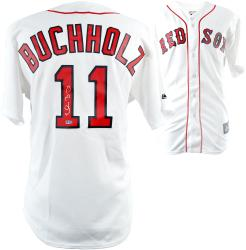 Clay Buchholz Boston Red Sox Autographed Jersey