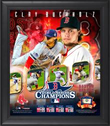 Clay Buchholz Boston Red Sox 2013 World Series Framed 15'' x 17'' Collage with Game-Used Baseball - Limited Edition of 500 - Mounted Memories