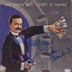 Buck Dharma, Eric Bloom, Albert Bouchard, Allen Lanier & Joe Bouchard Autographed Blue Oyster Cult Agents Of Fortune Album - PSA/DNA COA
