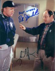 Buck Showalter and Jason Alexander autographed 8x10 photo (Seinfeld NY Yankees George Costanza) Image #SC1