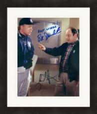 Buck Showalter and Jason Alexander autographed 8x10 photo (Seinfield NY Yankees George Costanza) Image #SC1 Matted & Framed