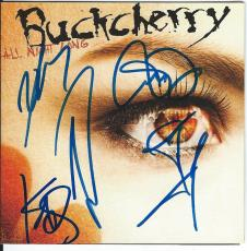 BUCKCHERRY Signed All Night Long CD BOOKLET Josh Todd IN PERSON ALL 5 MEMBERS