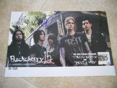 Buckcherry Signed Autographed Promo Poster Josh Todd +2 PSA Guaranteed 11x17 #1