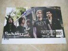 Buckcherry Signed Autographed Promo Poster Josh Todd +2 PSA Guaranteed 11x17 #3