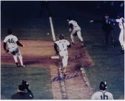 "Bill Buckner & Mookie Wilson 1986 World Series Autographed 16"" x 20"" Photograph"