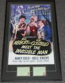 Bud Abbott & Lou Costello Dual Signed Framed 28x46 Poster Display JSA