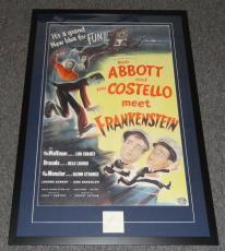 Bud Abbott & Lou Costello Dual Signed Framed 33x48 Poster Display JSA