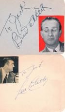 Bud Abbott & Lou Costello PSADNA Signed Autographed Auto T11955