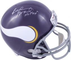 "Bud Grant Minnesota Vikings Autographed Riddell Replica Helmet with ""HOF 94"" Inscription - Mounted Memories"