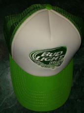 Bud Light Lime Beer Green White Snap Back Trucker Hat Brand New Never Worn Rare
