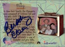 Buddy Ebsen Beverly Hillbillies Jed Signed Trading Card 1998 Inkworks #26 Id #32