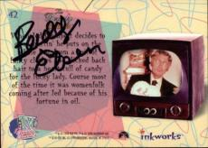 Buddy Ebsen Beverly Hillbillies Jed Signed Trading Card 1998 Inkworks #42 Id #32