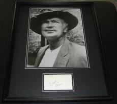 Buddy Ebsen Beverly Hillbillies Signed Framed 16x20 Photo Display