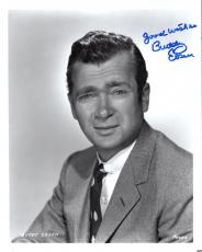 BUDDY EBSEN HAND SIGNED 8x10 PHOTO+COA       LEGENDARY ACTOR    GREAT YOUNG POSE