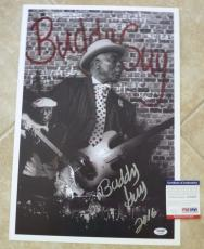 Buddy Guy Blues Signed Autographed Poster Lithograph 13x19 PSA Certified #6