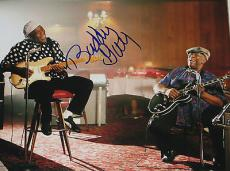 BUDDY GUY Signed 11x14 Inch Large PHOTO w/ BB King Chicago Blues Guitar Legend