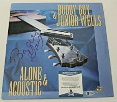 Buddy Guy Signed Album w/COA Blues Legend Chicago Proof B.B. King Alone Acoustic