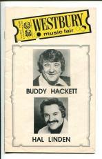 Buddy Hackett Hal Linden Westbury Music Fair Playbill