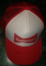 Budweiser Beer Red White Snap Back Trucker Vintage Hat Brand New Never Worn Rare