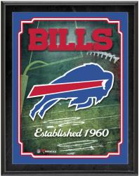 "Buffalo Bills Team Logo Sublimated 10.5"" x 13"" Plaque - Mounted Memories"