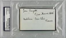 Bugatti Motors Jean Bugatti ULTRA RARE Signed Index Card PSA/DNA Authentic