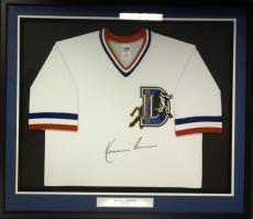 Bull Durham Kevin Costner Crash Davis Autographed Framed White Jersey Psa/dna