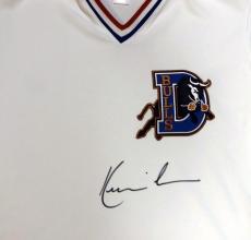 Bull Durham Kevin Costner Crash Davis Autographed White Jersey Psa/dna
