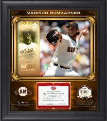 "Madison Bumgarner San Francisco Giants Top Prospects Framed 15"" x 17"" Collage with Piece of Game-Used Baseball-Limited Edition of 99"