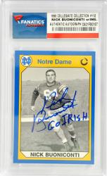 Nick Buoniconti Notre Dame Fighting Irish Autographed 1990 Notre Dame #112 Card with Go Irish Inscription