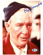 "Burgess Meredith Autographed 8"" x 10"" Rocky Red Sweater Photograph - Beckett COA"