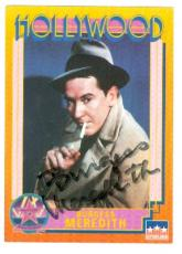 Burgess Meredith autographed trading card (Mickey Rocky Mice and Men) 1991 Hollywood Walk of Fame #33