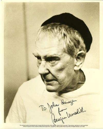 BURGESS MEREDITH PSA DNA Coa Hand Signed Rocky 8x10 Photo Autograph Authentic