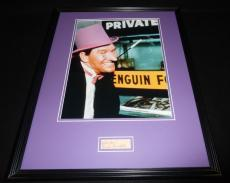 Burgess Meredith Signed Framed 16x20 Photo Display Batman Penguin B