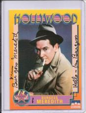 Burgess Meredith Signed Starline Hollywood card