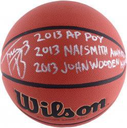 Trey Burke Autographed NCAA Basketball - 2013 Awards
