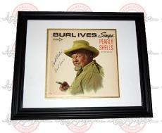 BURL IVES Autographed Signed Framed Album LP PSA/DNA    AFTAL