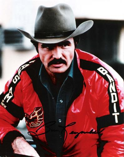 """BURT REYNOLDS  as BANDIT in """"SMOKEY and the BANDIT"""" Signed 8x10 Color Photo"""