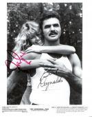 "BURT REYNOLDS as (J.J.) and FARRAH FAWCETT as (PAMELA) ""THE CANNONBALL RUN"" Signed 8x10 B/W Photo"