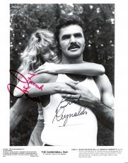 "BURT REYNOLDS as (J.J.) and FARRAH FAWCETT as (PAMELA) ""THE CANNONBALL RUN"" Signed 8x10 B/W Photo"