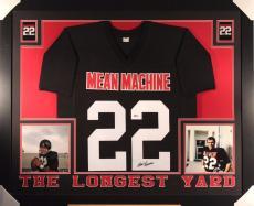 Burt Reynolds Autographed & Framed Mean Machine Jersey (Beckett I22822)