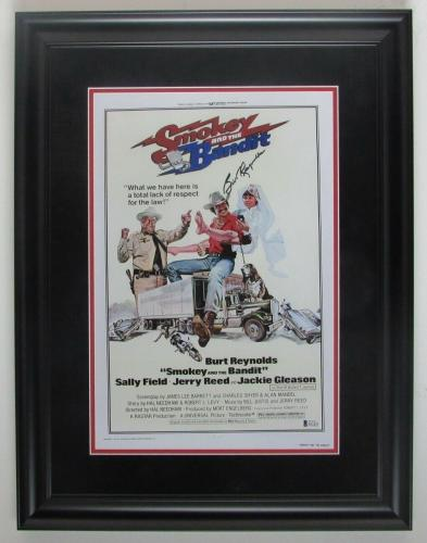 "Burt Reynolds Autographed ""Smokey and the Bandit"" Movie Framed Photo 135932"
