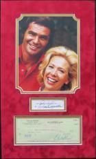 Burt Reynolds & Dinah Shore Signed Loving & Leaving Sally Matted Display PSA/DNA