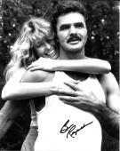 Burt Reynolds Hand Signed Autograph 8x10 Photo Farrah Fawcett Cannonball Run Hug