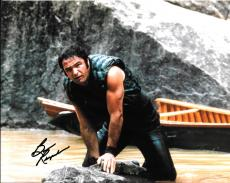 Burt Reynolds Hand Signed Autograph 8x10 Photo Leaning Against Rock Deliverance
