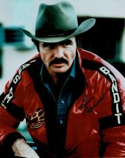 Burt Reynolds Hand Signed Autograph 8x10 Photo Sitting Smokey And The Bandit