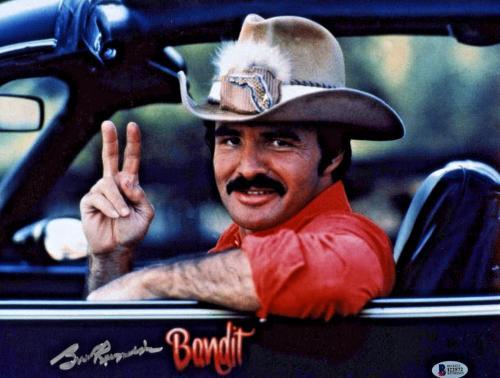 Burt Reynolds Signed 11x14 Smokey and the Bandit Photo - Trans Am Beckett BAS