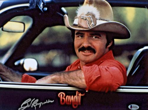 Burt Reynolds Signed 11x14 Smokey and the Bandit Photo - Trans Am Beckett BAS 2